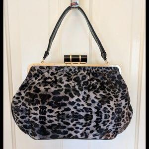 EUC Big Buddha leopard print & gold shoulder bag